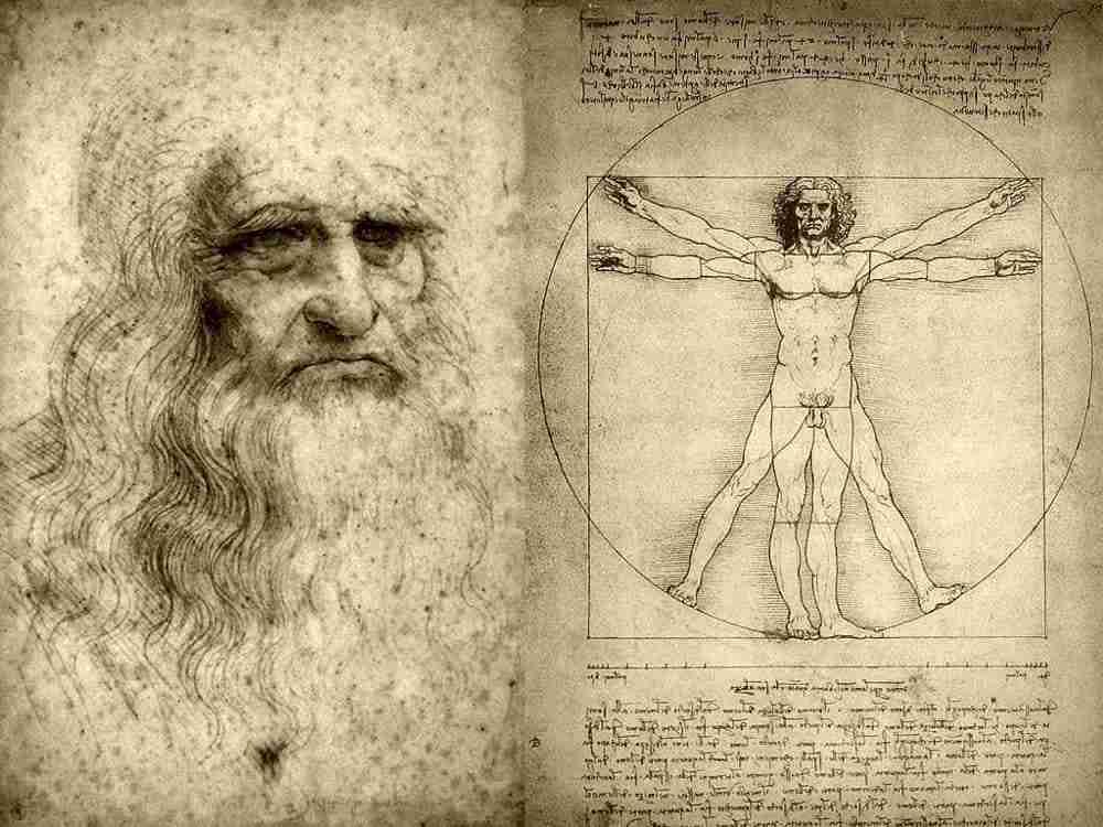 Disegno di Leonardo Da vinci   photo credit : corrieredicomo.it