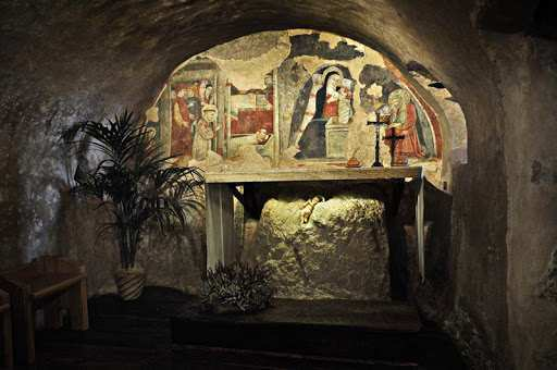 Greccio. Grotta del Santuario di San Francesco d'Assisi  photo credit:visitgreccio.com