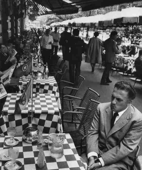 Federico Fellini in Via Veneto rione Ludovisi  photo credit: Pinterest.it