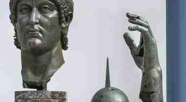Nella foto resti del colosso di Costantino  photo credit: leggo.it