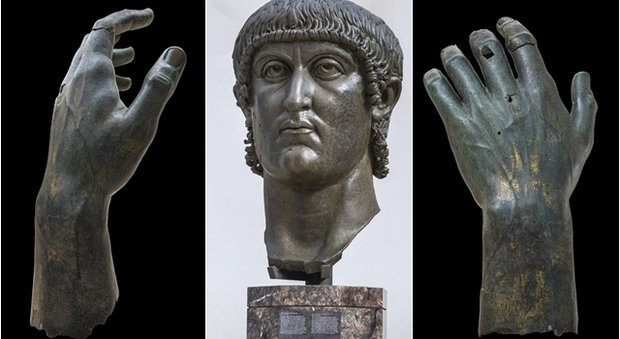 Nella foto resti del colosso di Costantino  photo credit : ilmessaggero.it