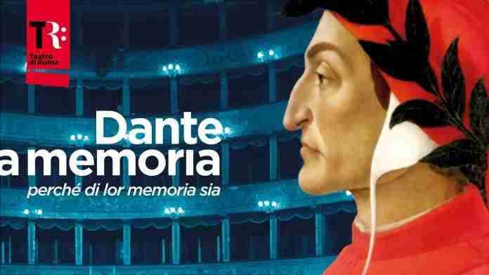 Teatro di Roma, dal 2 maggio il progetto DANTE A MEMORIA