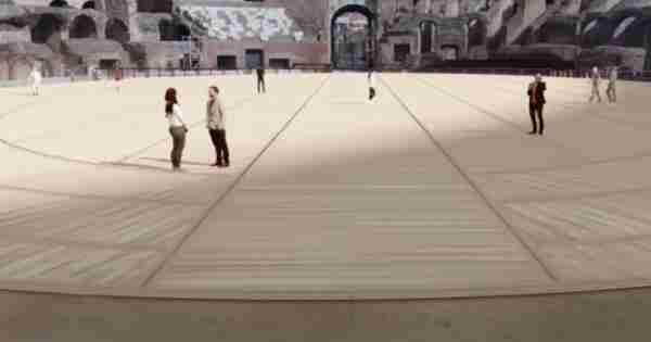 Nella foto un immagine virtuale del nuovo progetto dedicato all'arena del Colosseo  photo credit: r101.it