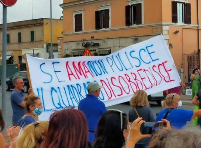 quadraro roma rifiuti